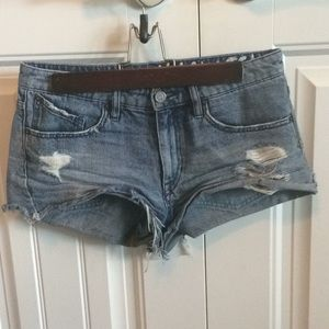 A pair of Volcom jeans shorts